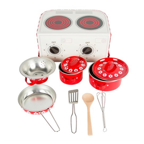 Red Daisies Play cooking set