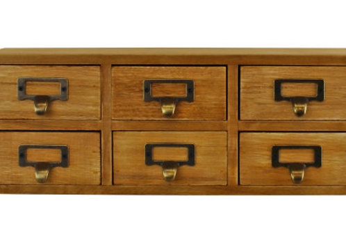 6 drawer double level small storage unit - trinket drawers