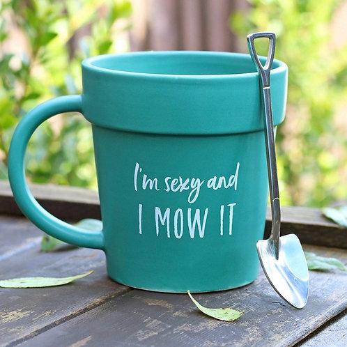 I'm sexy and I mow it boxed mug