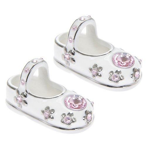 Baby Jewel pink SHOES - pair, 6x3 cms