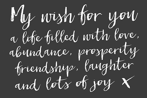 Sentiment postcard - My wish for you