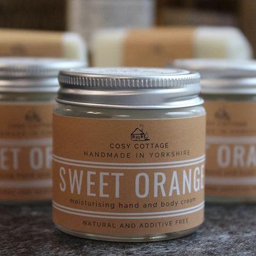 Energising Sweet Orange Hand and Body Cream - 30ml jar - VEGAN