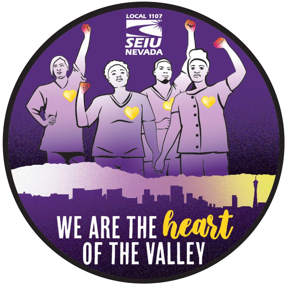 sticker for SEIU Nevada Local 1107
