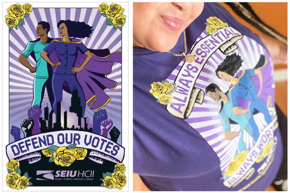 t-shirt for SEIU HCII