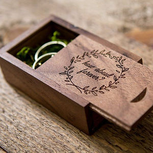 Engraved Wood Ring Box ( Ring Bearer Box