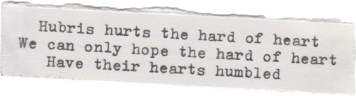 HUBRIS HURTS