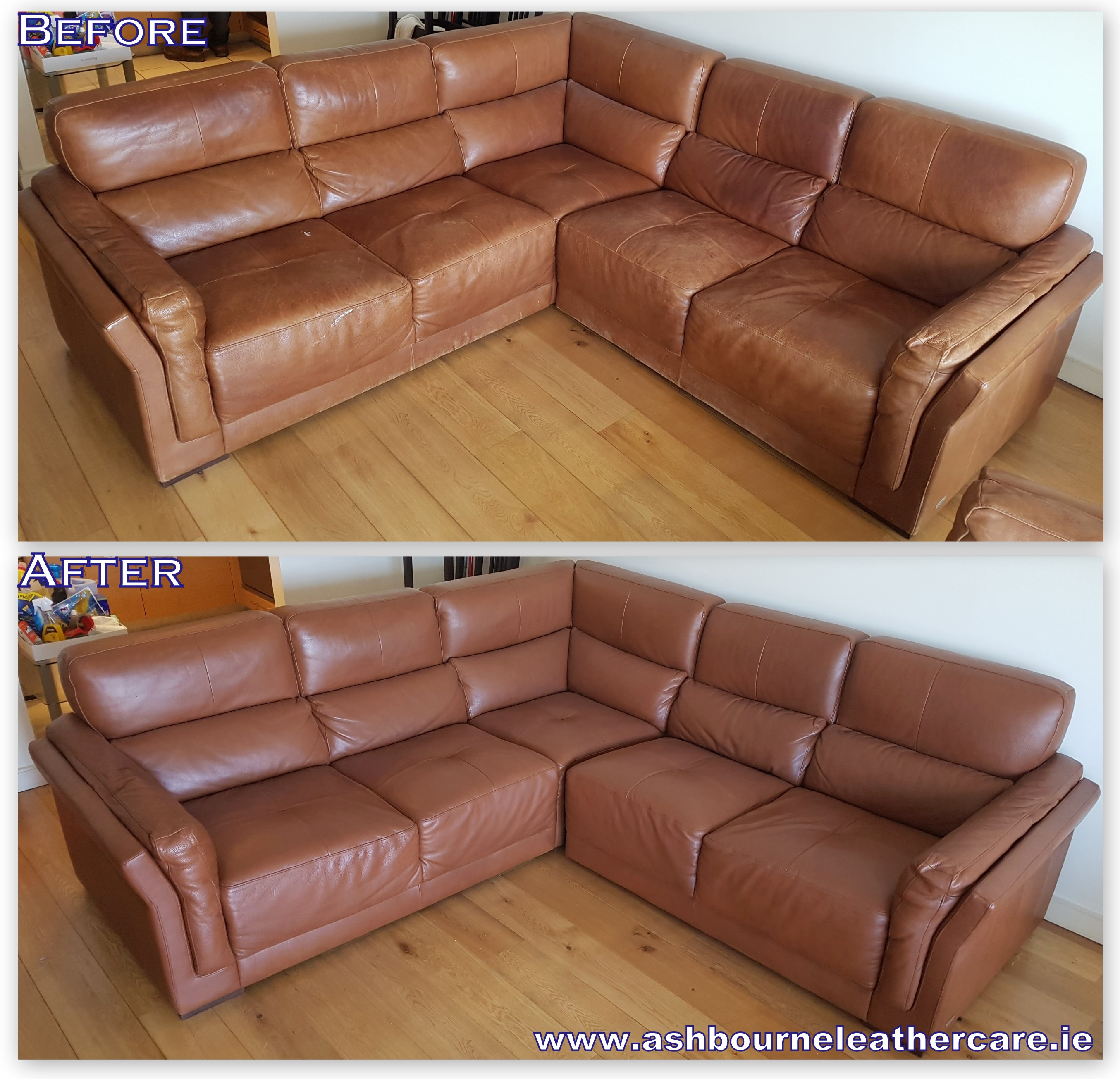 faded leather sofa restoration