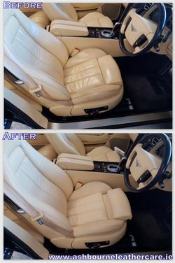Bentley leather seat restoration.