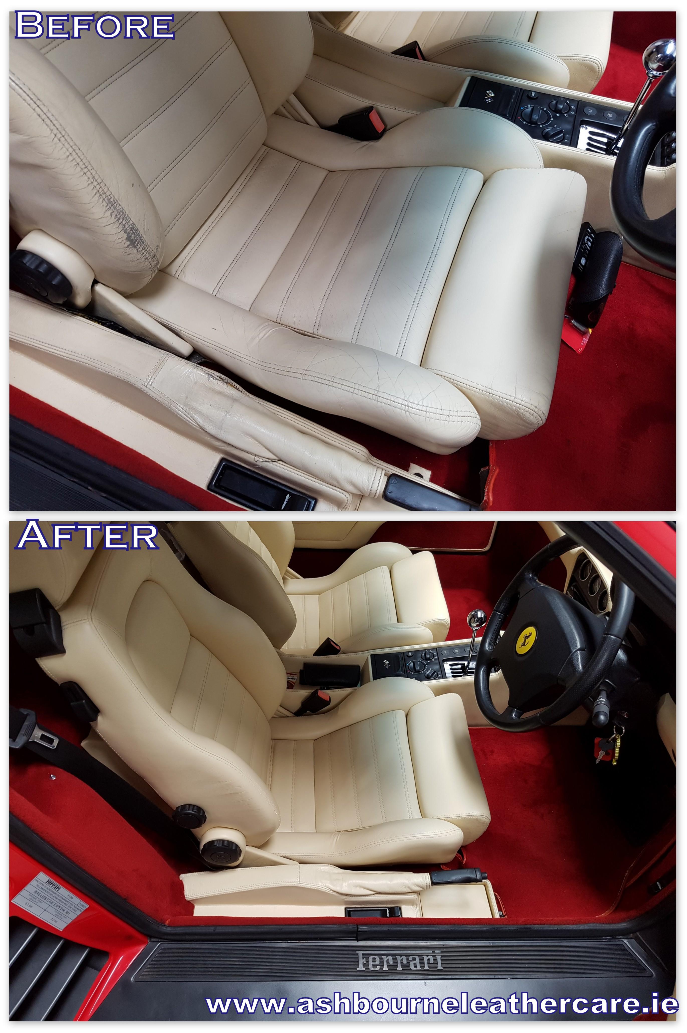seat color restoration Ferrari.