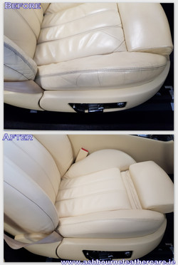 Bentley leather seat restoration.