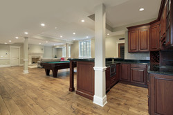 Basement in new construction home with b