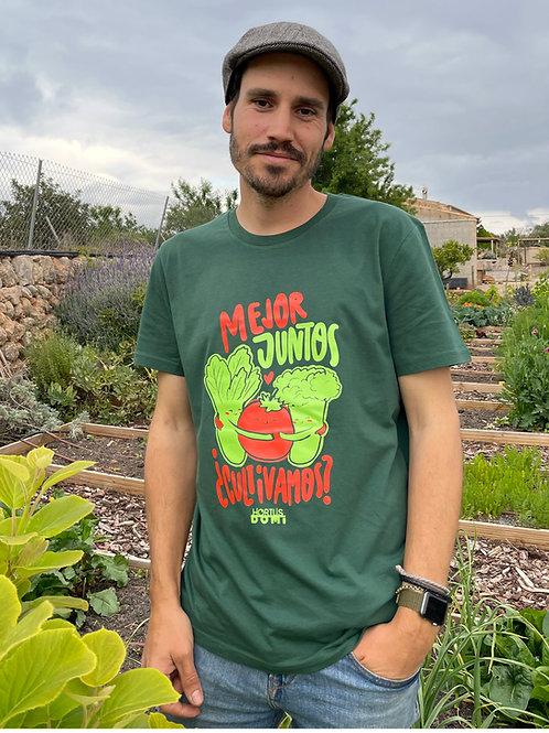"""Camiseta """"Mejor juntos ¿Cultivamos?"""