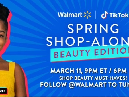 Walmart returns to TikTok for beauty-focused shoppable livestream