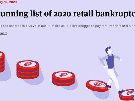 2020The running list of 2020 retail bankruptcies