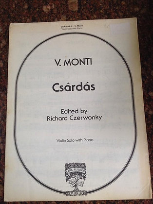 V.MONTI Csárdás Violin Solo and Piano