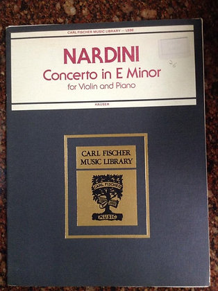 NARDINI Concerto in E Minor Violin Piano