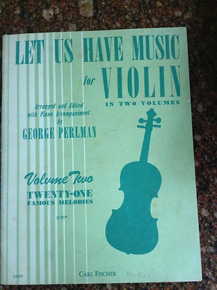 Twenty One Famous Melodies Violin by George Perlman