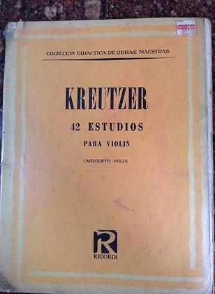 KREUTZER 42 Estudios para Violin