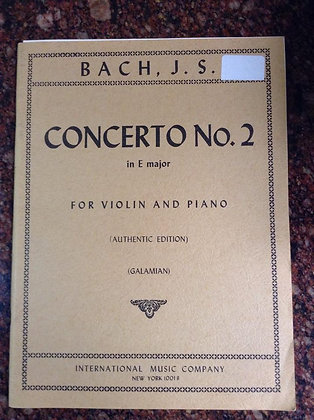BACH Concerto in E Major N.2 for Violin and Piano