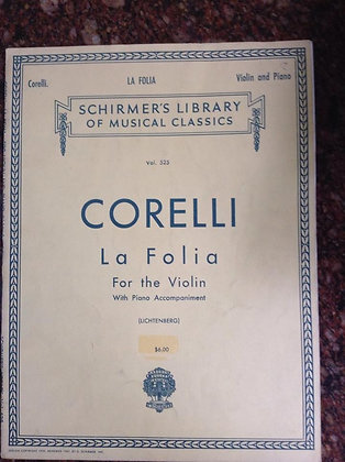 CORELLI La Folia for Violin and Piano