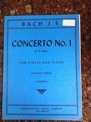 BACH Concerto N.1 in A Minor Violin and Piano