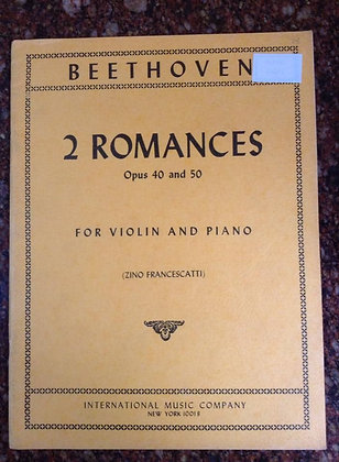 BEETHOVEN 2 Romances Opus 40 and 50 Violin and Piano