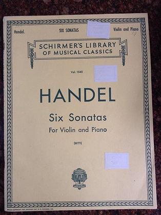 HANDEL Six Sonatas Violin and Piano