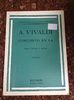 A. VIVALDI Concierto en LA Violin Piano