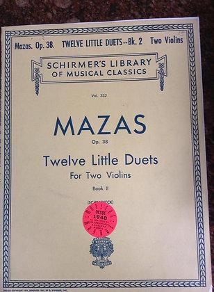 MAZAS Op.38 Twelve Little Duets for 2 Violins