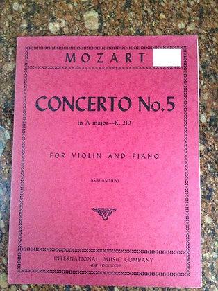 MOZART Concerto N.5 in A Major K.219 Violin and Piano