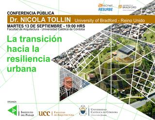 conferencia pública:La transición hacia la resiliencia urbana