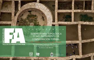 conferencia en el programa Miércoles FA, de la UNAM.