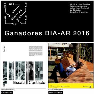 trabajo de cátedra galardonado en la BIA-AR 2016