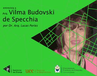 entrevista a Arq. Vilma Budovski  de Specchia