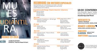 muestra estudiantil de la Facultad de Arquitectura – Universidad Nacional Autónoma de México.
