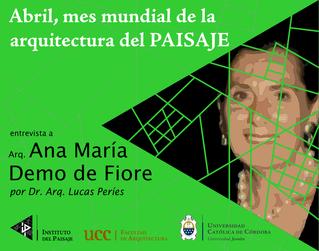 entrevista a Arq. Ana María Demo de Fiore