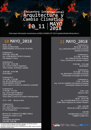 encuentro internacional: Arquitectura y cambio climático - Colombia