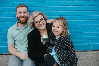The Jones Family | A Bright and Sugary Broad Avenue Session | Memphis Family Photographer