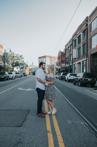 McKenzie + Peyton Engagement Session | Downtown Memphis | Memphis Wedding Photographer