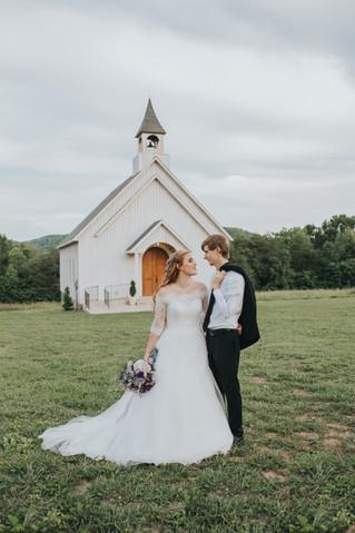 A Romantic Tennessee Chapel Wedding | Mr. & Mrs. Hieatt | Lanes' Bend Cookeville, TN | Memph