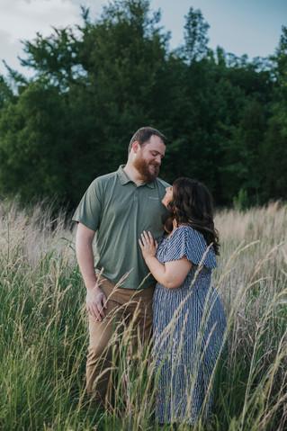 Meredith + Matt | A Sunset Summer Session in the Park | Memphis Wedding Photographer