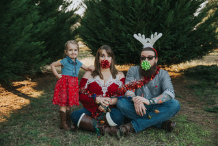 The Windsor-Cummings Family | A Silly Christmas Tree Farm Session | Memphis Family Photographer