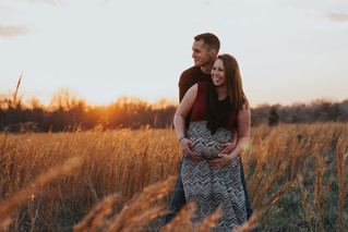 April & Kevin | A Field Maternity Session | Memphis Photographer