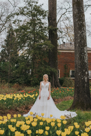 Kathryn | A Tulip-Filled Bridal Session at the Dixon Gallery & Gardens | Memphis Wedding Photogr