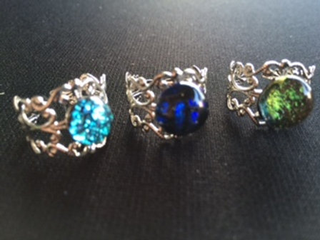 Adjustable silver plated rings