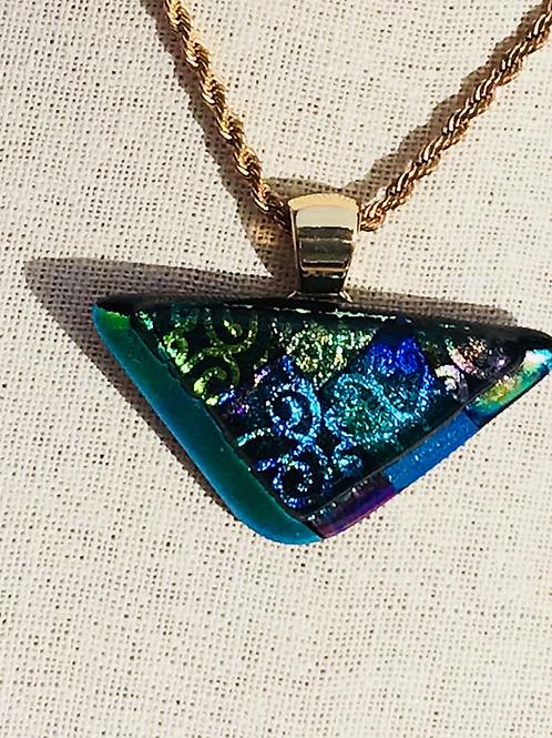Dichroic triangular pendant