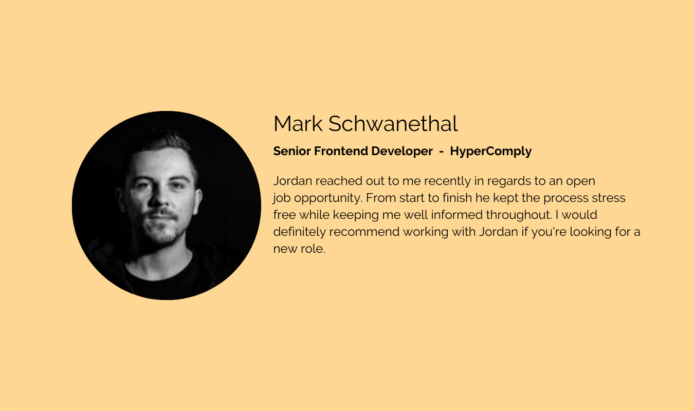 Mark Schwanethal- Senior Frontend Develo