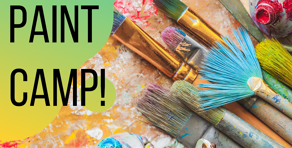 ALL Paint - ALL the time! July 6-8, 1-4pm daily