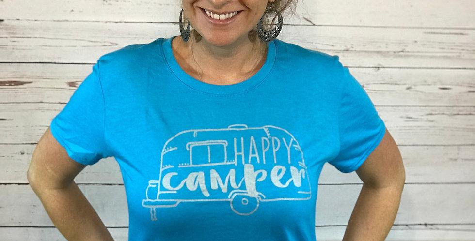 Happy Camper Ladies Triblend Tee
