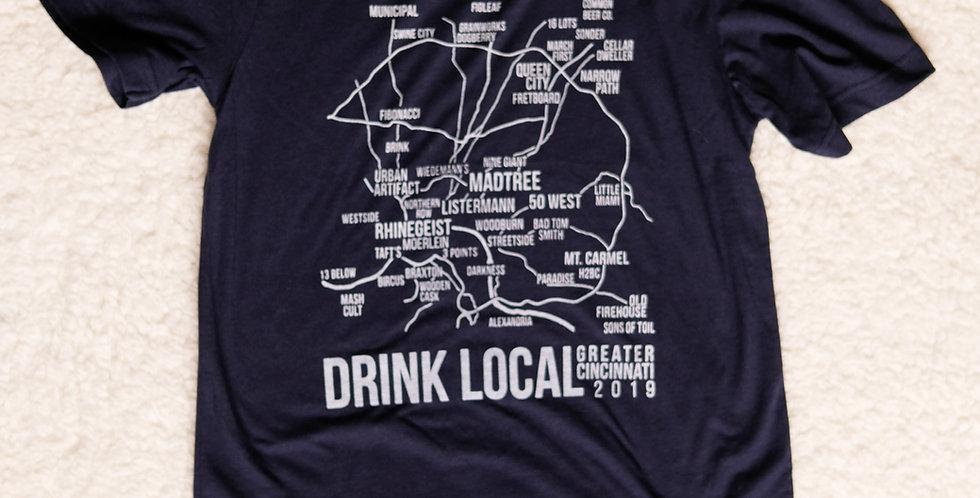 (2019) Brewery Map Unisex T Shirt